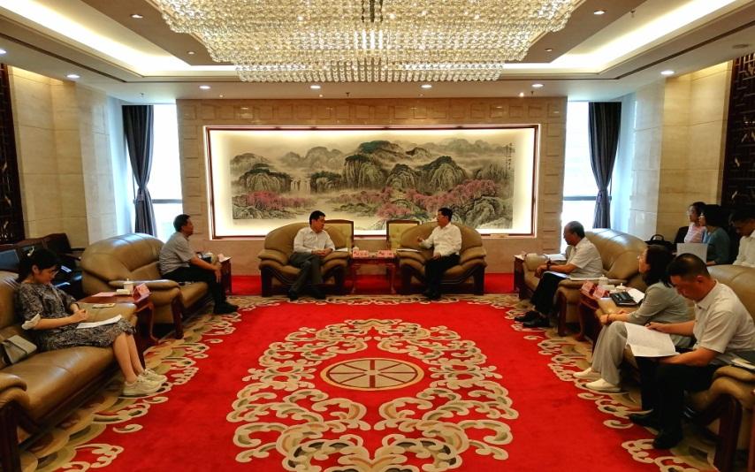 曾波会见中国证监会大连监管局党委书记、局长赵洪军